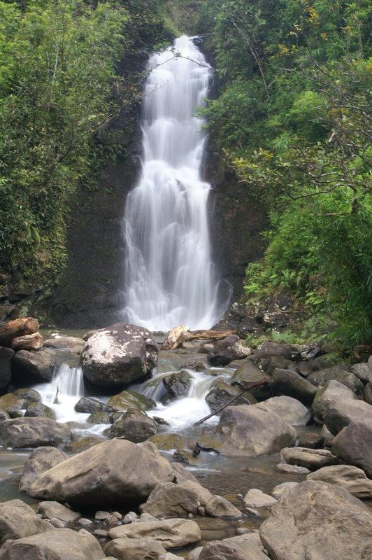 Hidden Waterfall on Road to Hana in Hawaii