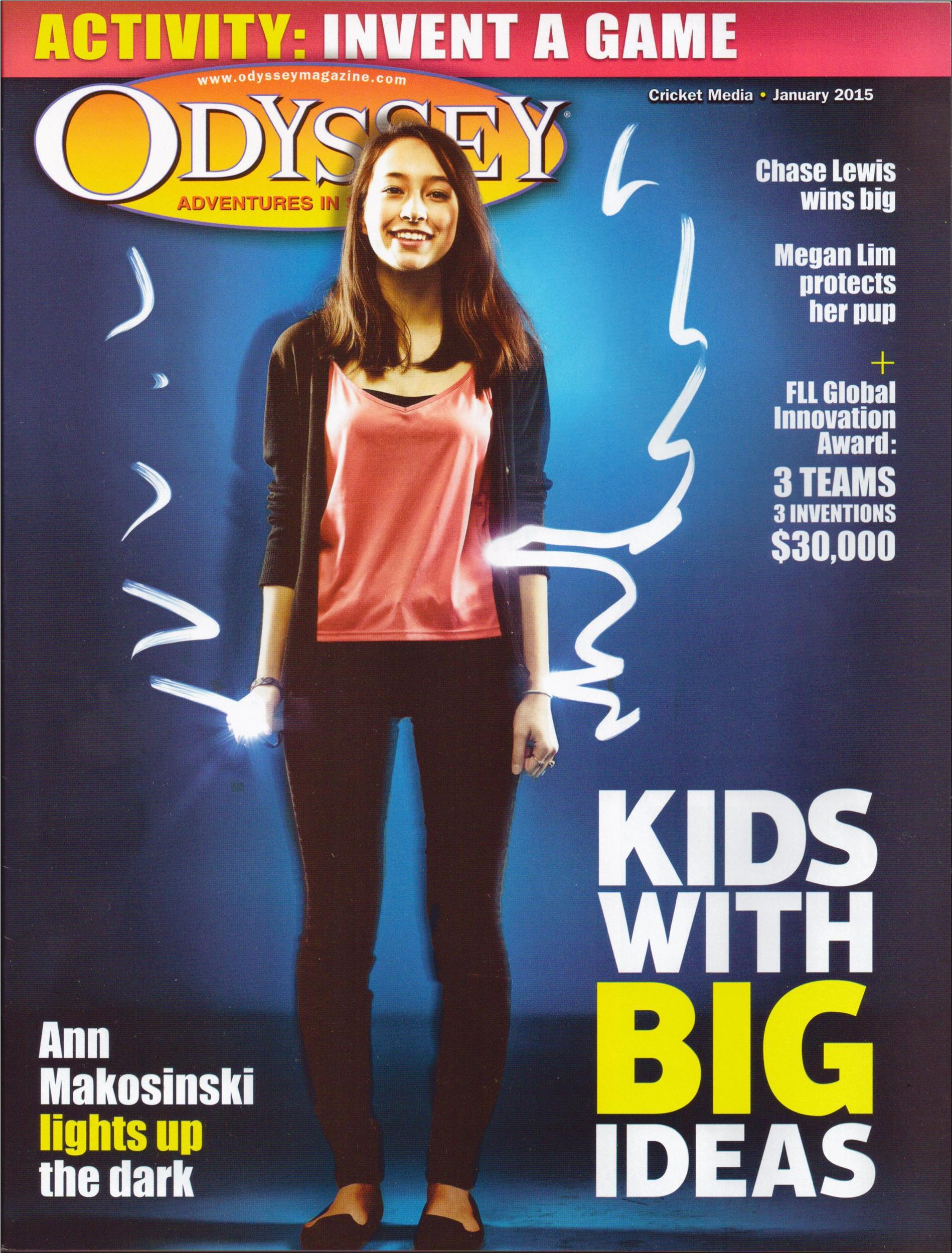 Cricket Media, Odyssey Magazine, feature article, article writer, children's article
